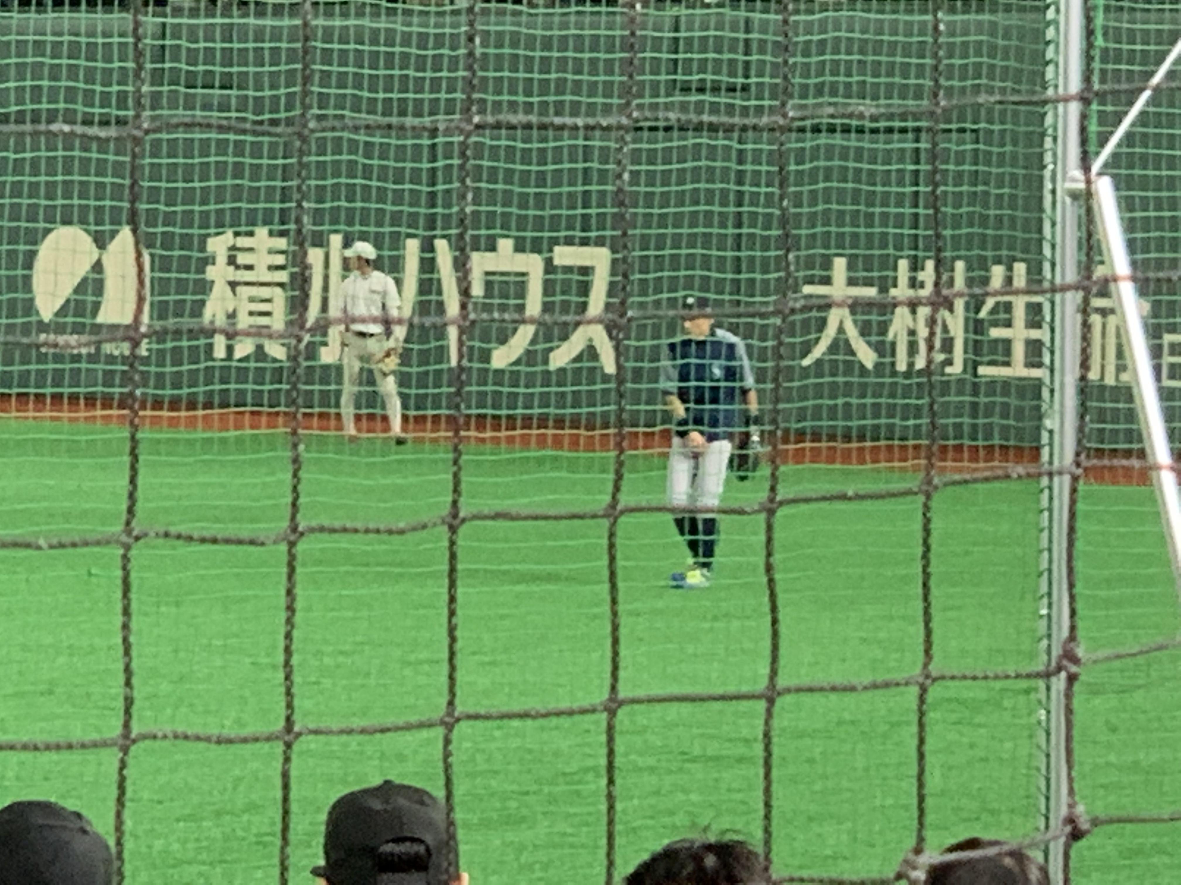 東京ドーム 3月20日 試合前のイチロー選手